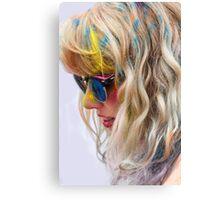 HOLI Color Festival Portrait Canvas Print