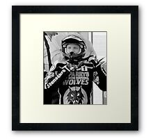 Freddie Lindgren helmet pose Framed Print