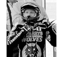 Freddie Lindgren helmet pose Photographic Print