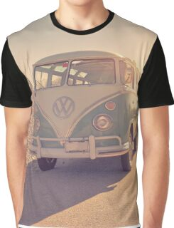 Surfer's Vintage Vw Samba Bus At The Beach 2016 Graphic T-Shirt