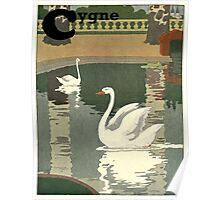 Swan / Cygne - French Alphabet Animals Poster