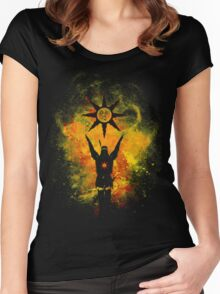 Praise The Sun Fire Women's Fitted Scoop T-Shirt