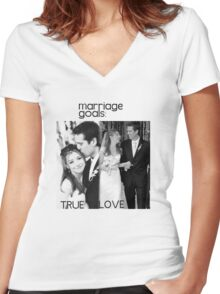 Alyson Hannigan & Alexis Denisof Marriage Goals Women's Fitted V-Neck T-Shirt