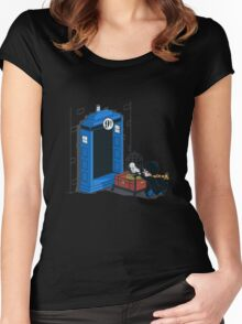 Harry Potter - Tardis Women's Fitted Scoop T-Shirt