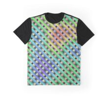 Fractal plasma stitched, abstract multi-colour design Graphic T-Shirt