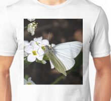 Arctic White Butterfly Unisex T-Shirt
