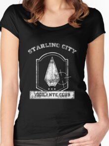 Starling City Vigilante Club Women's Fitted Scoop T-Shirt