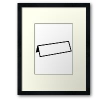 Name tag Framed Print