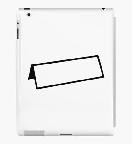 Name tag iPad Case/Skin
