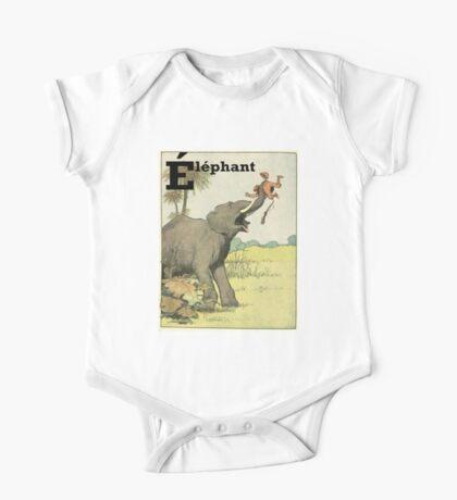 Elephant - French Alphabet Animals One Piece - Short Sleeve