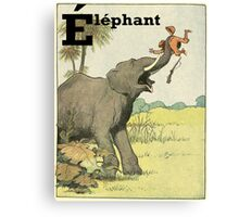Elephant - French Alphabet Animals Canvas Print