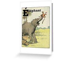 Elephant - French Alphabet Animals Greeting Card