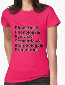 Areas of Linguistics   White Womens Fitted T-Shirt