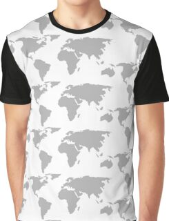 Map of the World Graphic T-Shirt