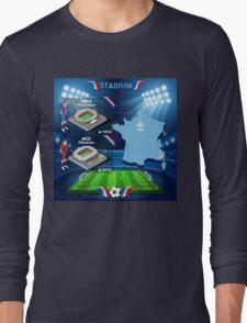 Paris Nice Stadium Infographics Long Sleeve T-Shirt