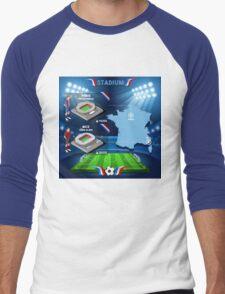 Paris Nice Stadium Infographics Men's Baseball ¾ T-Shirt