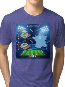 Paris Nice Stadium Infographics Tri-blend T-Shirt