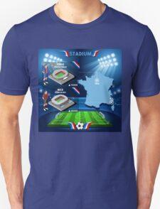 Paris Nice Stadium Infographics Unisex T-Shirt
