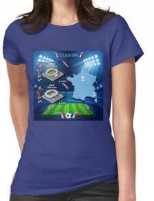 Paris Nice Stadium Infographics Womens Fitted T-Shirt