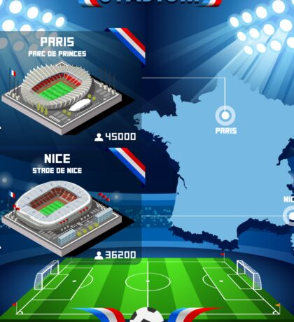 Paris Nice Stadium Infographics Sticker