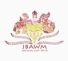 JBAWM Red Flower One Piece - Short Sleeve