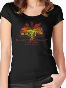 JBAWM Red Flower Women's Fitted Scoop T-Shirt