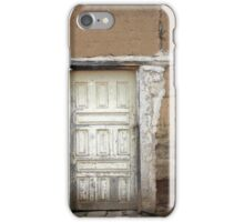 White Wood Door in an Adobe Wall iPhone Case/Skin