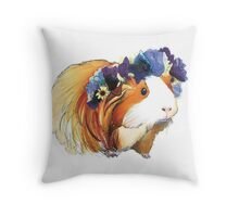 Sittin' Piggy Throw Pillow