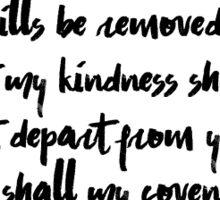 Isaiah 54:10 Sticker Sticker