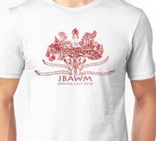 JBAWM Dark Red Flower Unisex T-Shirt
