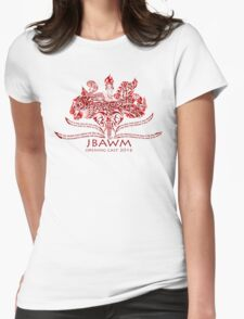 JBAWM Dark Red Flower Womens Fitted T-Shirt