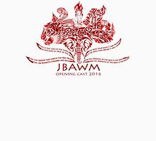 JBAWM Dark Red Flower Unisex T-Shirt