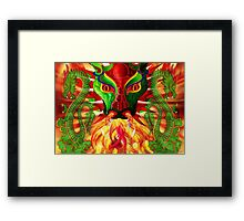 DRAGON FIRE Framed Print