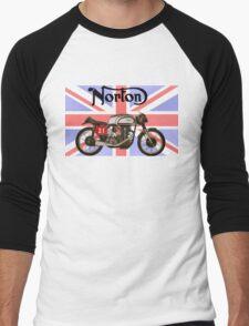 NORTON MANX UNION JACK Men's Baseball ¾ T-Shirt