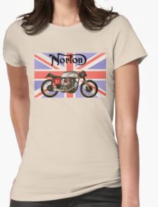 NORTON MANX UNION JACK Womens Fitted T-Shirt
