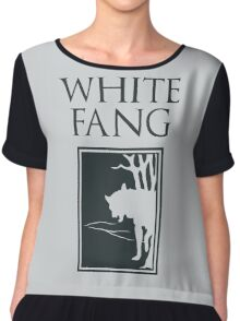 White Fang Jack London book cover Chiffon Top