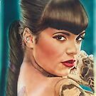 Tattoo lady ( pin-up portrait by Ray Jackson