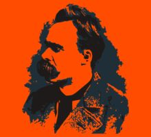 Friedrich Nietzsche portrait vector drawing  Kids Tee