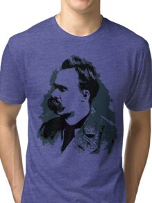 Friedrich Nietzsche portrait vector drawing  Tri-blend T-Shirt