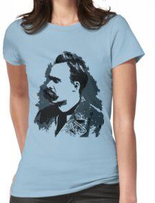 Friedrich Nietzsche portrait vector drawing  Womens Fitted T-Shirt