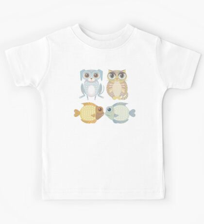 Lanky Dog, Big-Eyed Cat & 2 Fish Kids Tee