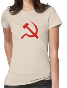 Hammer and Sickle Womens Fitted T-Shirt