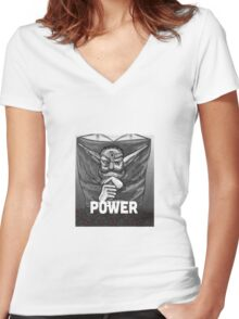 Baron Praxis: Power Women's Fitted V-Neck T-Shirt