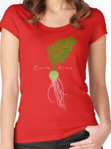 Earth Alien Watermelon Radish Women's Fitted Scoop T-Shirt