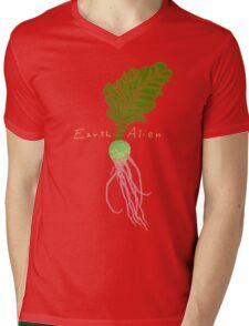 Earth Alien Watermelon Radish Mens V-Neck T-Shirt