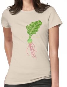 Earth Alien Watermelon Radish Womens Fitted T-Shirt