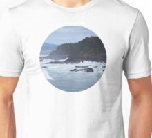 Crashing Waves In Blue Unisex T-Shirt