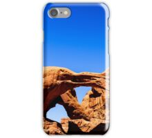 Double Arches at Arches National Park iPhone Case/Skin
