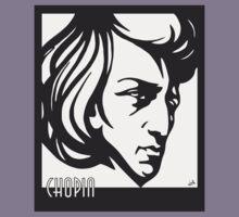 Chopin modern art deco style Kids Tee