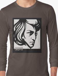 Chopin modern art deco style Long Sleeve T-Shirt
